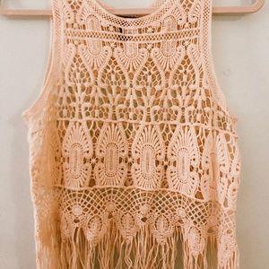 Crochet Knit Top